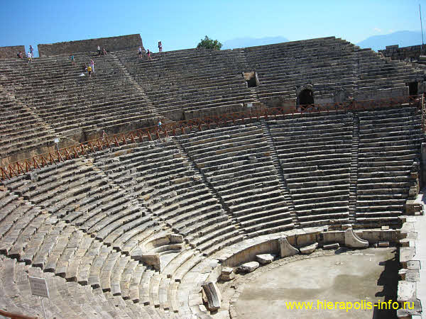 photo roman theatre in ancient Hierapolis